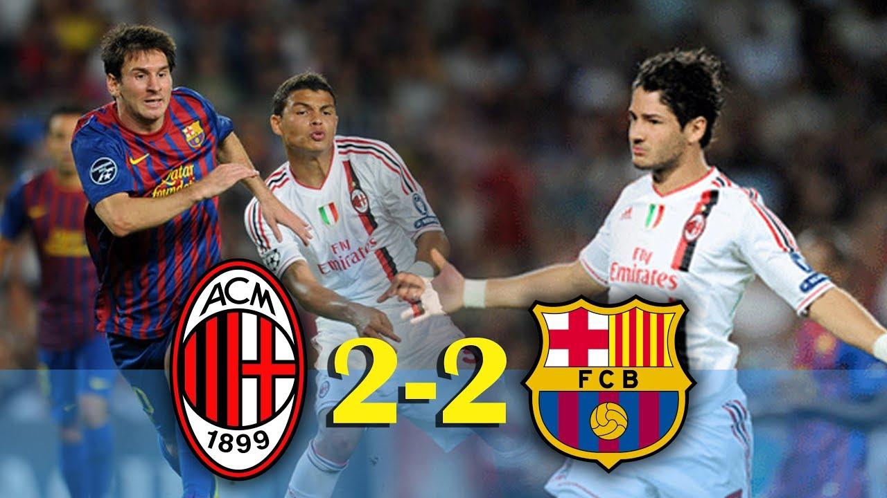 Barcelona Vs Ac Milan 2 2 Ucl 2011 2012 Goals And Highlights Shareonsport Com